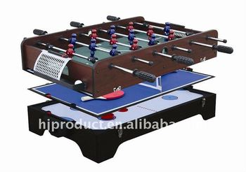 Professional And Competitive Price 3 In 1 Multi Game Table Foosball Air  Hockey