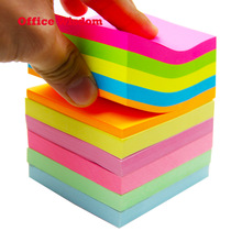Amazon Hot Koop Sticky Note Pad 3X3 Inches 10 Kleuren Sticky Notes Custom Logo Print Sticky Note