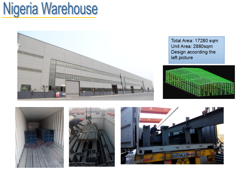 building material steel structure factory in Africa