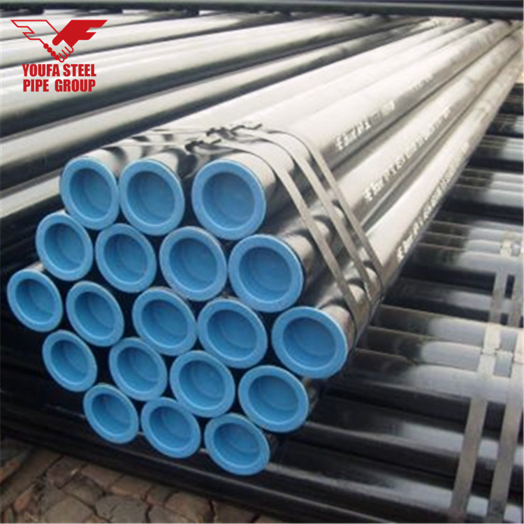 DN 200 219mm 8 inch MS Seamless Pipe Price and Size with Black Painted