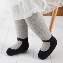 Fashion cotton knitted pantyhose legging baby sock