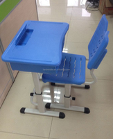 Cheap school furniture!! Adjustable single school desk and chair or stool