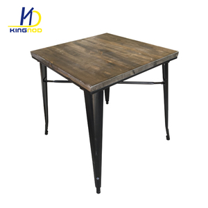 High Quality Industrial Removable Metal Top Dining Table /Dining Table Sets