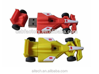High Quality racing car shape usb flash drive skin made of soft pvc plastic
