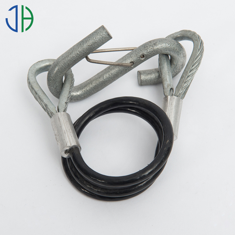 Pe Coated Steel Wire Rope Sling Lock With Aluminum Thimbles And ...
