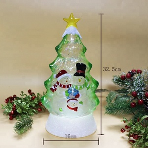 Color Changing Snowman Led Light Decoration Acrylic Christmas Tree