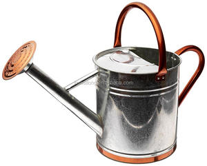 Rustic style vintage galvanized metal watering can water pot for garden