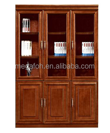 Classical design wood veneer MDF office hanging file cabinet(FOHS-B306C)