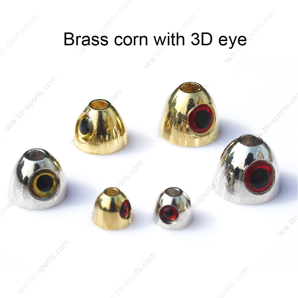 Eyed brass dumbbell and cornhead fly tying beads with flexible and custom design