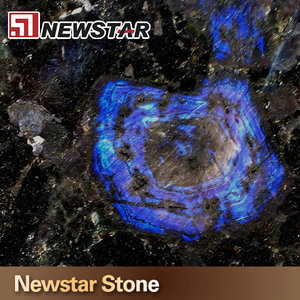 Newstar customize fabricated hole cutting royal blue granite countertop