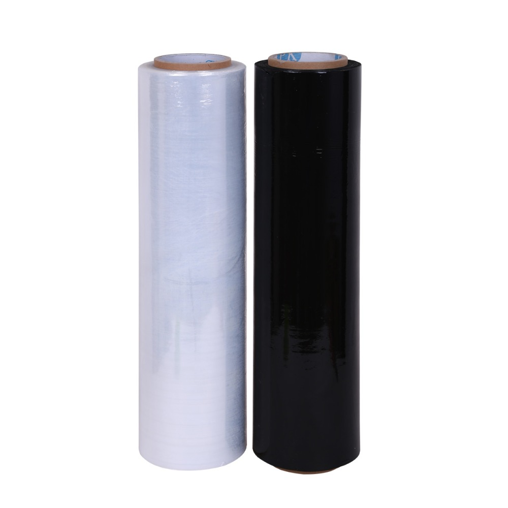 450mm 500mm clear lldpe bale wrap plastic