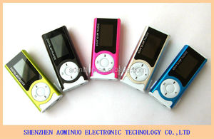 Promotion very cheap Mini MP3 music player 1.3 inch with LED light mp3 player clip mp3 players high quanlity