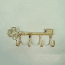 Vintage สีขาว Cast Iron Coat Hook
