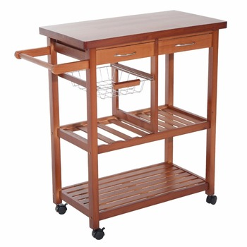 Wooden rolling storage microwave cart kitchen trolley with drawers wooden rolling storage microwave cart kitchen trolley with drawers watchthetrailerfo