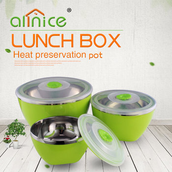Eco-friendly plastic picnic food container set preserving boxes/crisper for food