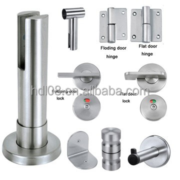 Stainless Steel Bathroom Toilet Partition Hardware (HDL017)