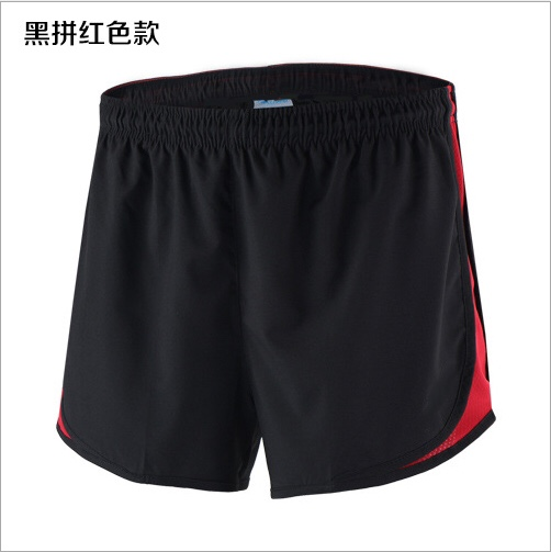 High Quality Custom Logo Sport shorts Quick Dry 100% Polyester Unisex Running Sports Shorts Color block shorts