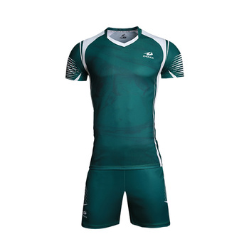 2cff698a267 China Custom New Design Your Own 100% Polyester Sublimation Mens Short  Sleeve Green Volleyball Jersey