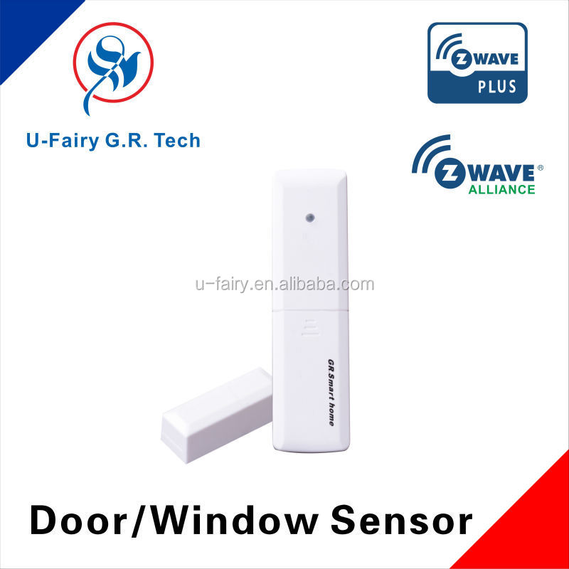 wireless magnetic door sensor z-wave/zigbee/wifi for home security with energy saving