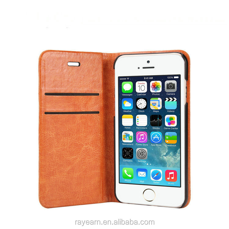 Business Name Card Holder Card Slot Leather Case Cover For Iphone 6 ...