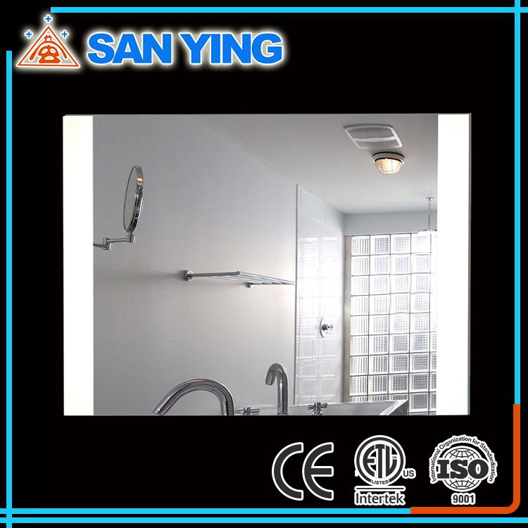 Modieuze goedkope dubbele badkamer spiegel met licht-spiegels ...