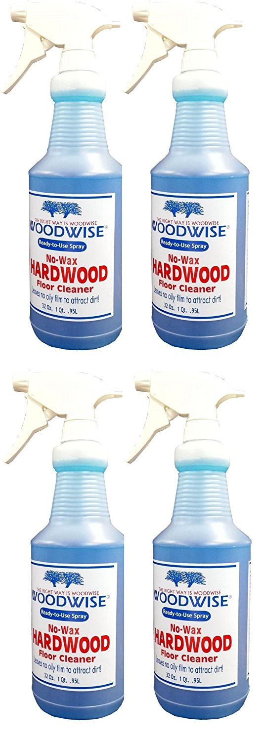 Get Quotations · Woodwise Ready-to-Use No Wax Hardwood Floor Cleaner 32oz Spray Pack of 4