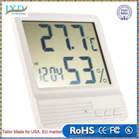 High-accuracy LCD Digital Thermometer Hygrometer Electronic Temperature Humidity Meter Clock Weather Station Indoor