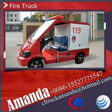 Popular battery powered fire fighting car, electric mini fire truck