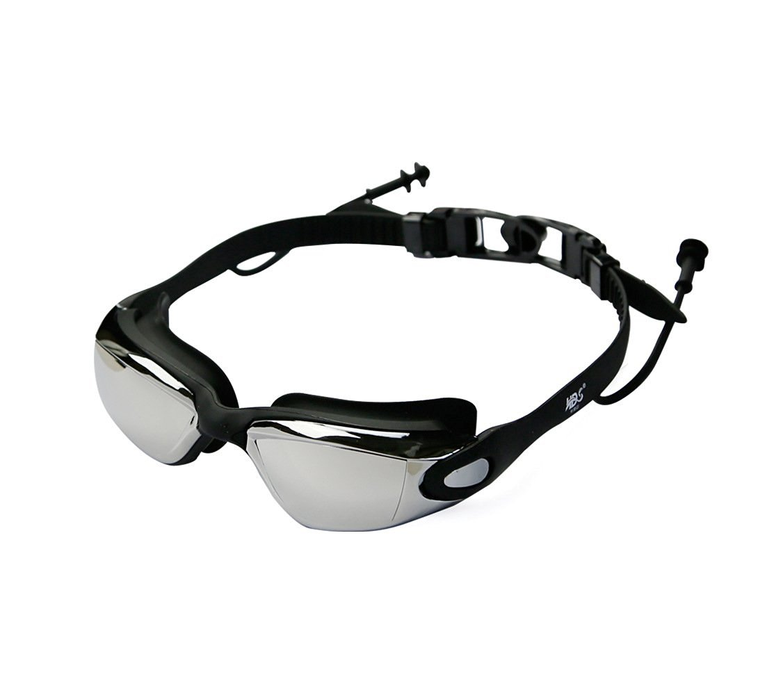 Swimming Goggles - Anti Water Anti Uv Anti-fog Swim Goggles - With Long Lasting Anti Fog Technology for Women and Men - With Uv Protection Plating Glasses - Soft and Durable Silicone Head Strap with Easy to Adjust Head-strap - Come with Free Earplugs and Goggle Box - 100% Satisfaction Money Back