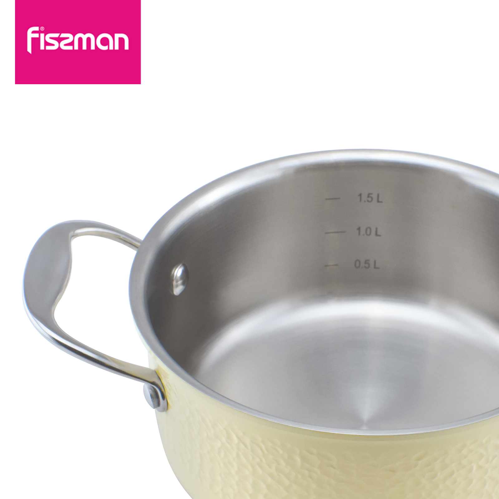 FISSMAN 2018 Hot Sale Eco-Friendly LFGB  24cm Induction 304 Stainless Steel Cookware Casserole With Glass Lid Soup Stock Pots