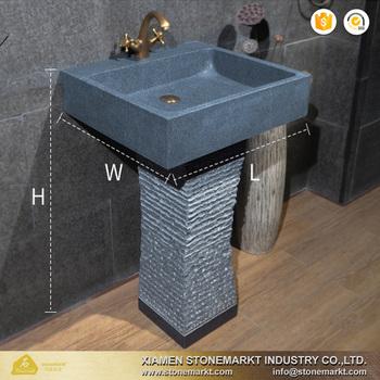 Tremendous Stonemark Dark Grey Rectangular Granite G654 Bathroom Pedestal Sink Buy Granite Sink Pedestal Sink Bathroom Sink Product On Alibaba Com Download Free Architecture Designs Photstoregrimeyleaguecom
