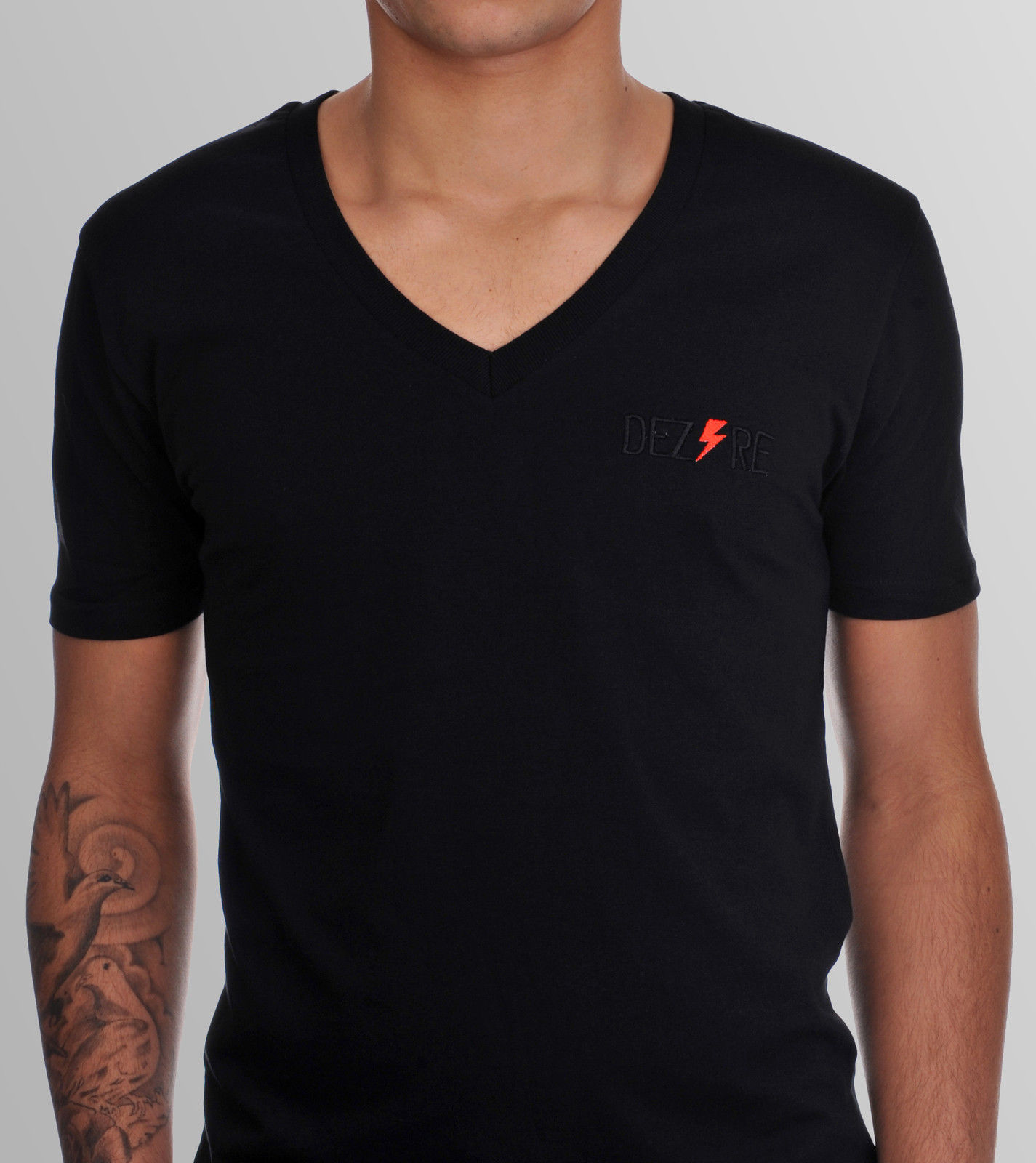 Black t shirt v shape - Custom Men V Shape Collar T Shirts With High Quality For Promotional