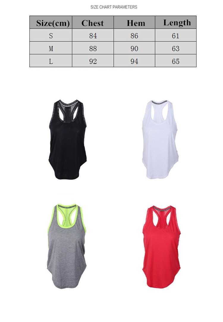 Summer Breathable Girls Sports Tank Top Quick Dry Yoga T-Shirt Sweat-absorbent Camilose
