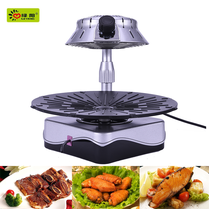 2015 hot sale infrared heating smoke free bbq grill and function of electric oven toaster