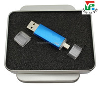 2016 new design two ends USB interface dual use OTG phone and computer USB flash drive