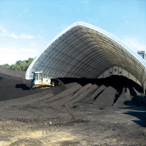Factory price prefab bolt joint space frame dome coal storage bin
