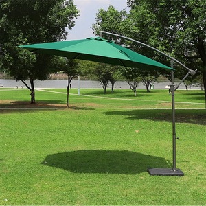 Aluminum 8 ribs garden umbrella UV Resistant cantilever brand parasol with crank handle system
