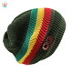 Wholesale rasta hat knitted beanie in bulk winter hats warm stripe beanie cap 100% cotton knitted cap