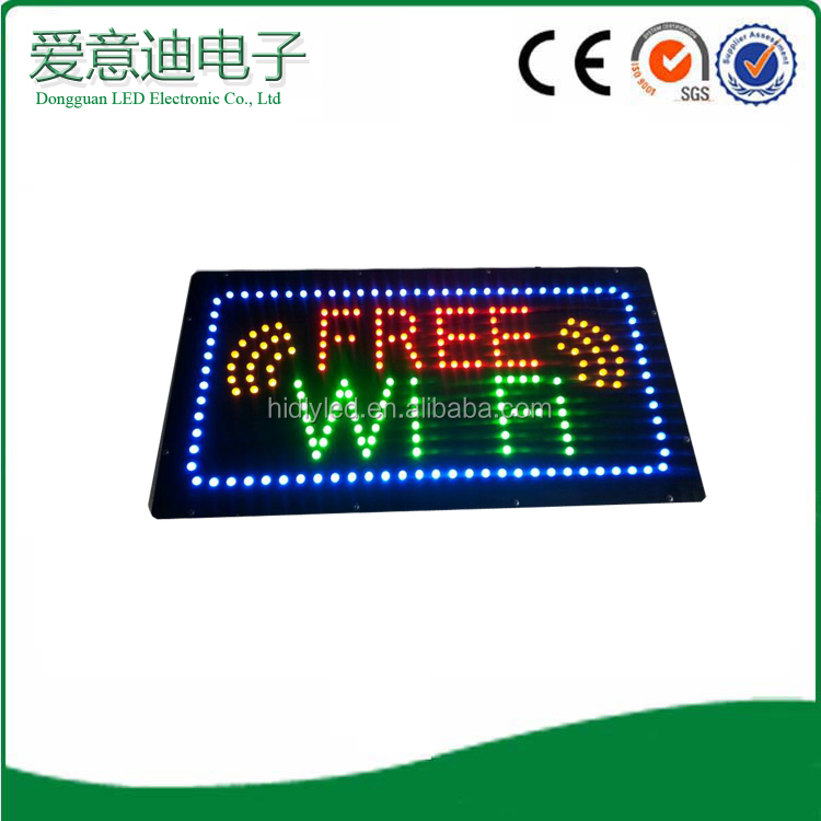 Alibaba China <strong>express</strong> acrylic flasher free wi-fi led advertising light boxes shop tire stand factory supplier