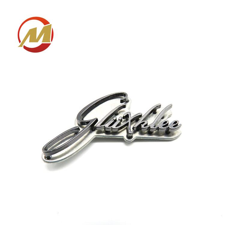 Модные золотые брендовые пользовательские выгравированы металлические полые буквы логотип имя таблички для сумки