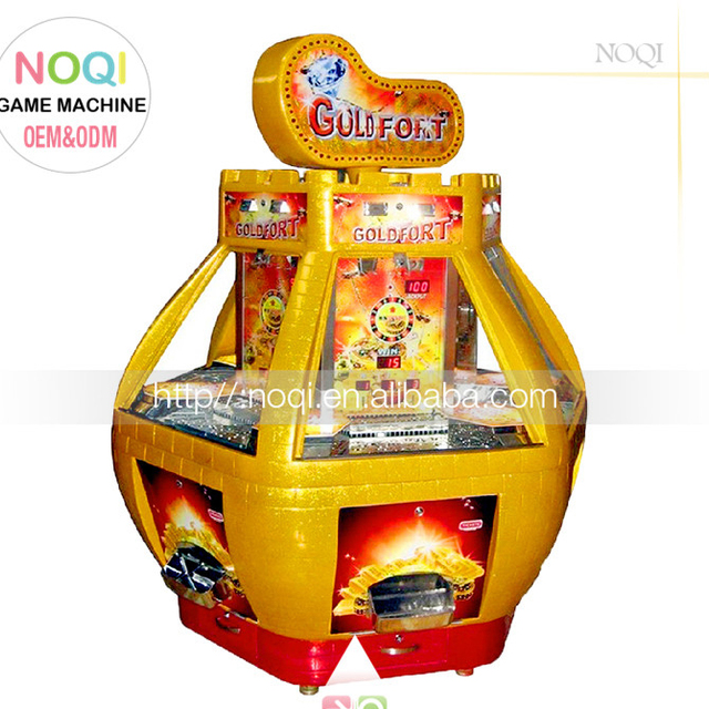 Affordable Golden Fort 5 person coin pusher ticket arcade games