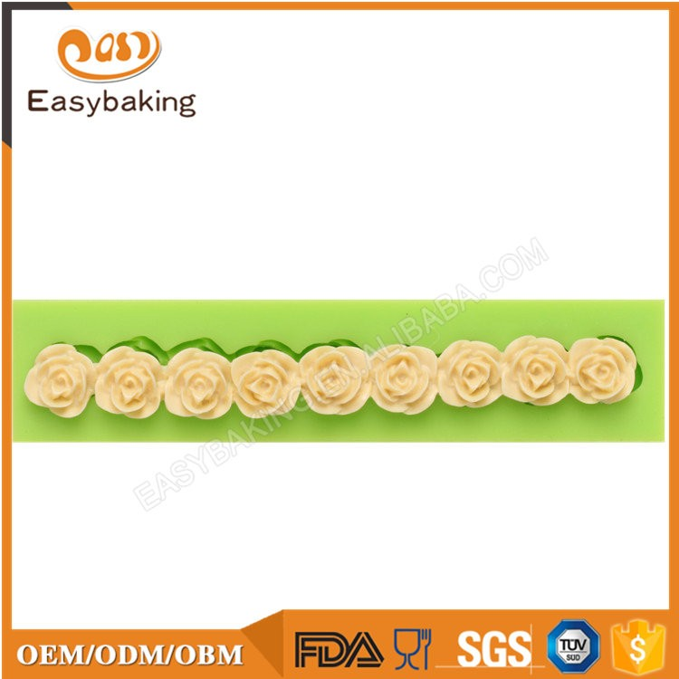 ES-4302 Flower Fondant Mould Silicone Molds for Cake Decorating