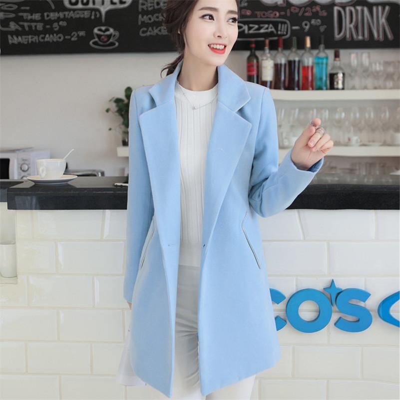 Women S Light Blue Wool Coat Coat Nj