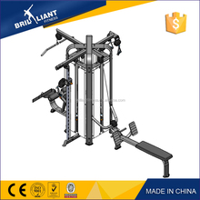 Brilliant mutil functional trainer exercise equipment four -station multi gym trainer