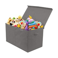 Folding Closet Organizer Pretty Non Woven Toy Storage Boxes with Lid