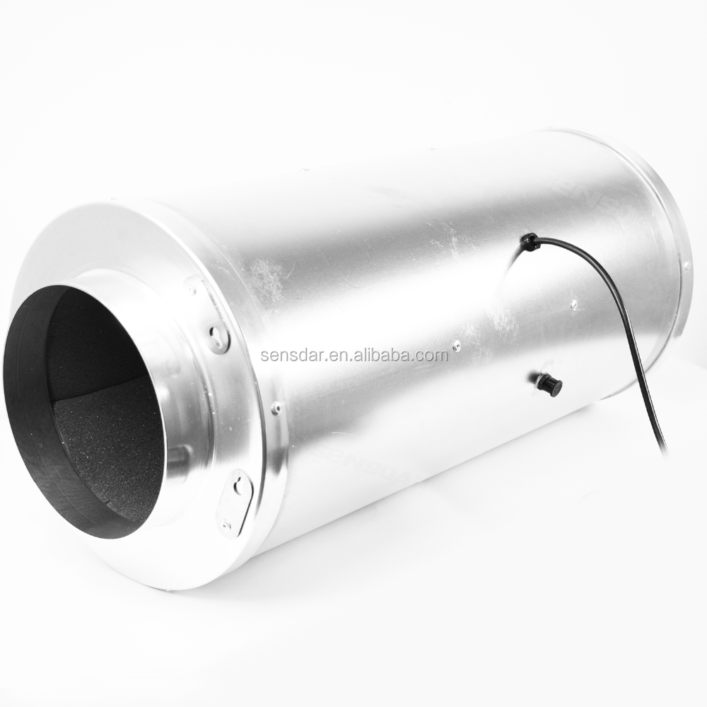 8 inch Hydroponic Inline Duct Booster Vent <strong>Fan</strong> with Silencer