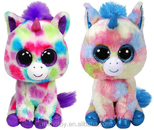 3a6e5f5a979e LOW MOQ Cheap Rainbow Unicorn Plush Toy With Horn Promotion Gift Big Eyes  TY Brand Pretty