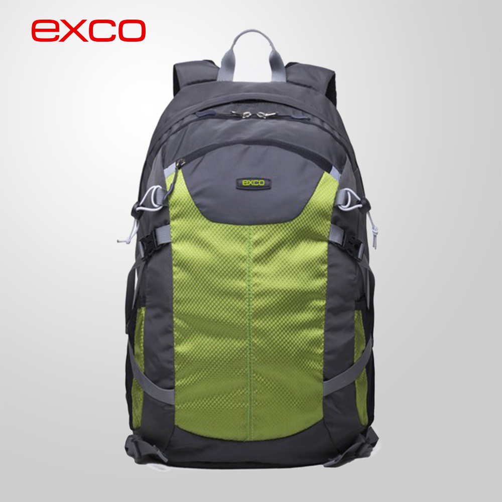 EXCO Promotional casual Lightweight Waterproof Nylon Outdoor Sport Travelling Zippers Backpack for women and Men Unise