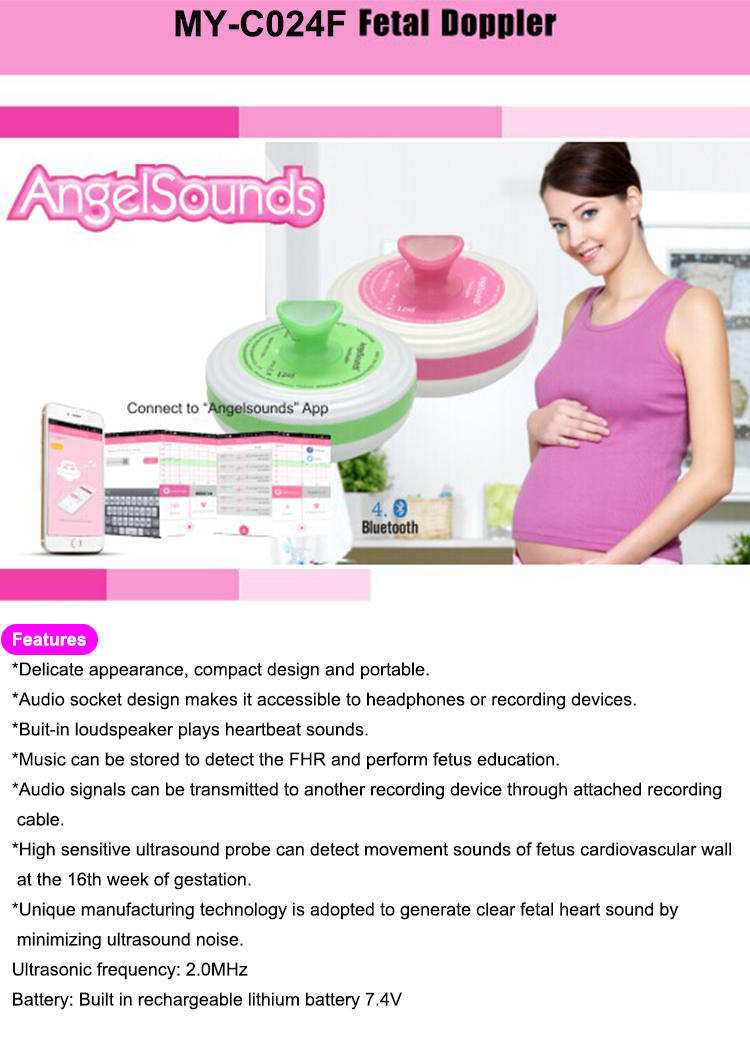 High Sensitivity Cheap price portable mini electronic Baby Heartbeat Monitor pregnancy pocket wireless bluetooth Fetal Doppler
