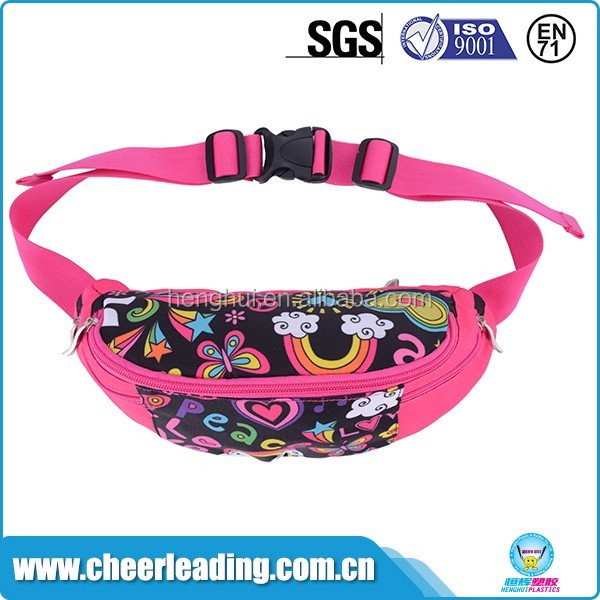Women's fashion fanny polyester sport elastic waist bag